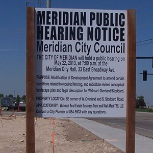 Public hearing notices must meet individual city requirements for content and font sizes
