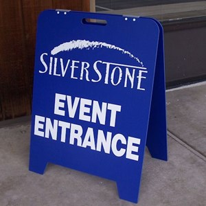 Colored A-Frames can be special-ordered to give your signs a different look