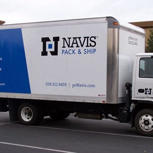 Large-scale graphics on these box trucks make your business visible