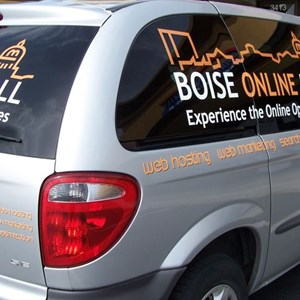 Simple cut vinyl lettering and graphics