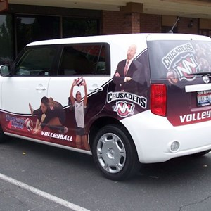 Show support for the team with a partial vehicle wrap and window perf!