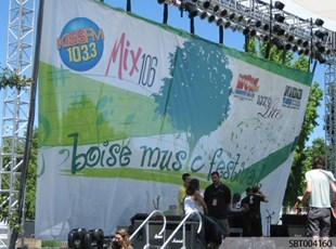 Outdoor Concert Custom Fabric Banner