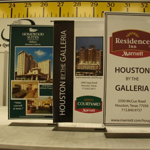 Mini-banner stand displays (banner size is 24