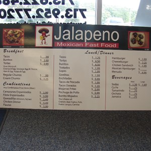 Menu board with changeable prices