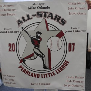 Boy's Little League All-Star banner
