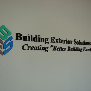 Custom painted acrylic letters and logo