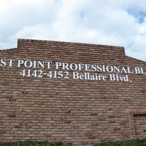 Dimensional letters can also be installed on brick!