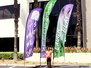 Temecula Custom Feather Banner