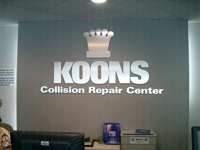 Car Dealership Reception wall lettering