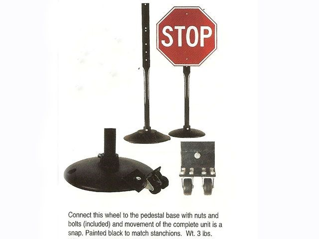 Pedestal Stand with Wheels - to attach any sign to