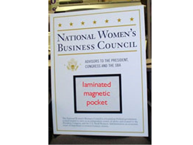 Conference Sign with magnetic pocket