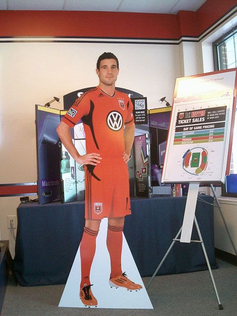 Lifesize Cut-out DC United Soccer Player