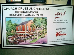 Construction Site 4'x8' MDO Sign