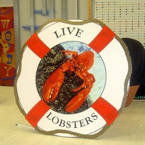 Interior Lobster Promotional Signs