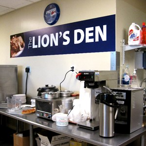Penn State Lions Den Cefe Wall Graphics and Menu Board Sign Job