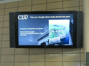 Digital Signage Display on Tile