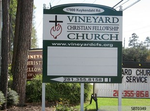 Church Sign with Track Lettering