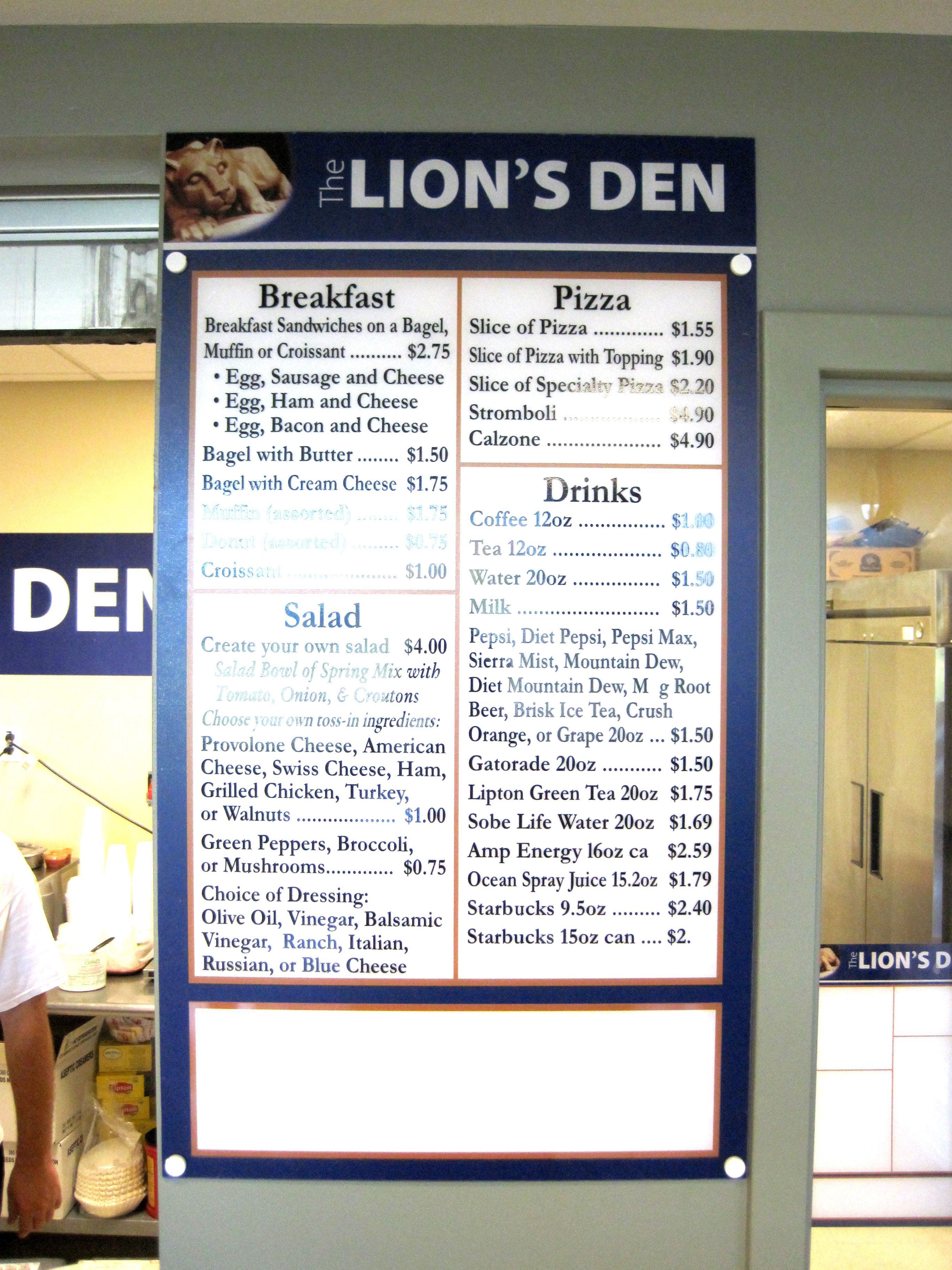 Menus menu boards dry erase full color digital prints