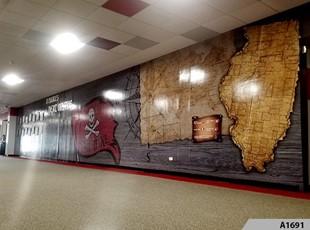 3D Wall Mural - Palatine High School