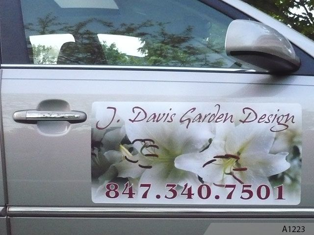 Custom Signs Northern Illinois Vehicle Wraps Vinyl Lettering - Magnetic car decals flowers