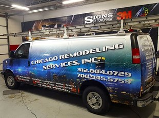Van Vehicle Wrap for Chicago Remodeling Services, Inc