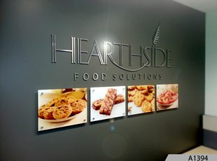 Printed Acrylic Signs with Decorative Stand-offs and 3-Dimensional Logo Signage