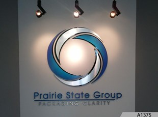 3-Dimensional Logo Sign with Gradients