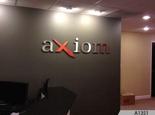 AXIOM Logo Signage
