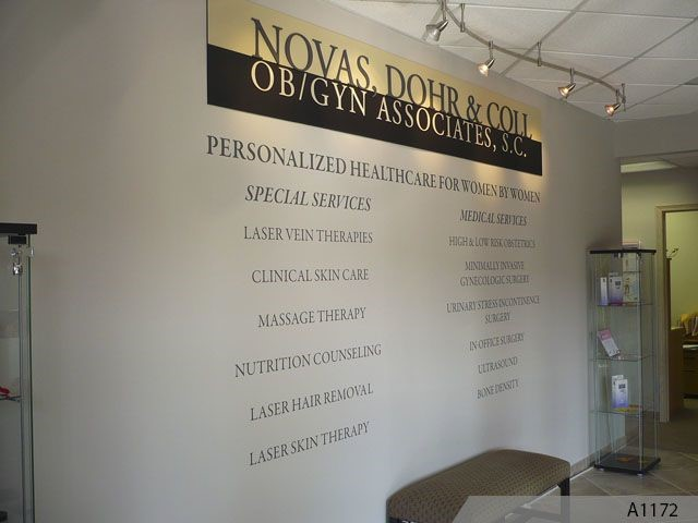 Indoor Vinyl Window Graphics  Lettering Vinyl Signs - Custom vinyl sign graphics   removal options
