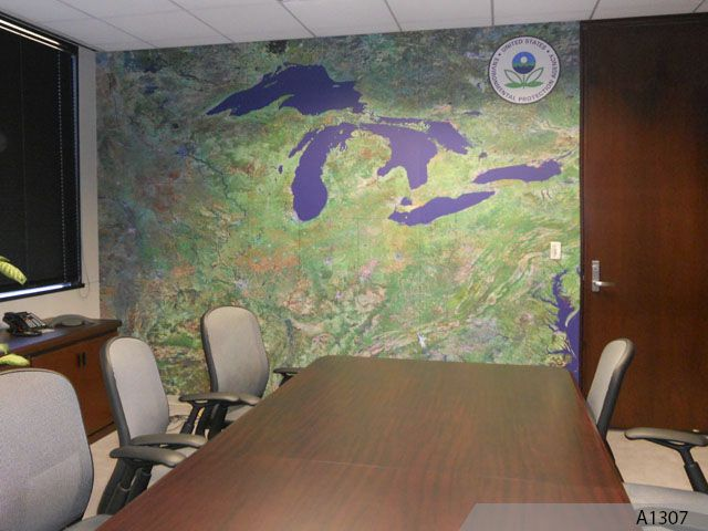 Wall Mural For EPA Office In Chicago Part 44