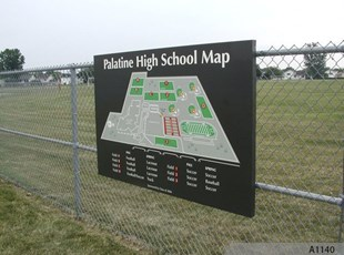 Palatine High School Field Map Sign