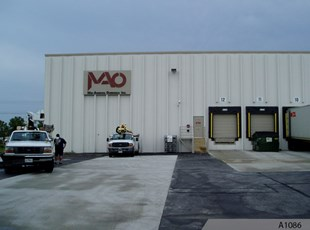 Metal Building Sign for Mid-America Overseas Inc. in Itasca, IL