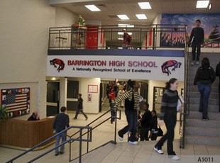 Barrington High School - Routed and hand carved HD