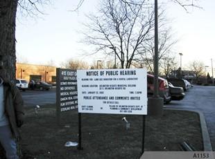 Public Hearing Plastic Sign on U-Channel Posts