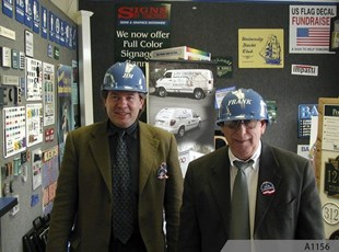 Safety Helmet Signs with Names and/or Logos