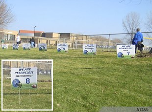 Football Plastic or Lawn Event Signage