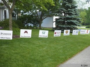 Graduation Lawn Signs with College Logos