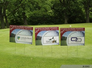Golf Outing Signs with Sponsor Names & Logos