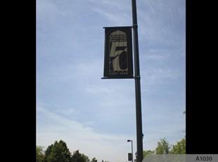 Boulevard Banners - Gold Logo on Black Nylon