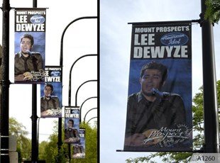 Lee Dewyze blvd. Banners in Mt. Prospect