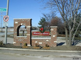 Carved or Routed PVC Entrance Sign - Foxborough Estates, Kildeer, IL