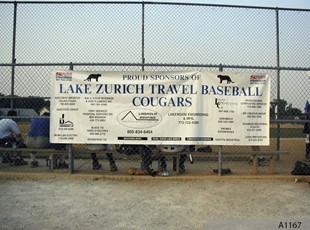 Sponsor Banner for the Lake Zurich Baseball Team