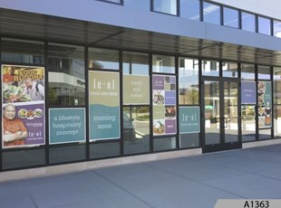 Window Signage at Randhurst Mall, Mt. Prospect