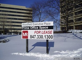 Commercial Real Estate Sign on 4x4 Wooden Posts