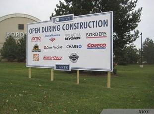 Billboard Sign for Randhurst Mall in Mt. Prospect