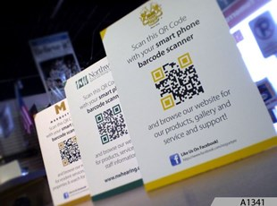 QR Code Table Top Signs