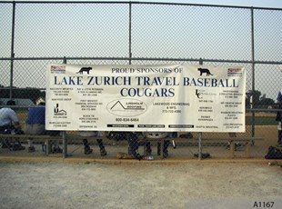 Sponsor Banner for the Lake Zurich Cougars