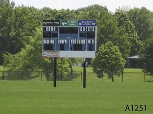 Score Board Sign, Milas Park in Arlington Heights