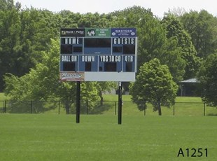 Score Board Sign, Milas Park in Arlington Heights