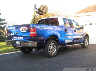 Vehicle Wrap with Business Card Holder - Barrington, IL